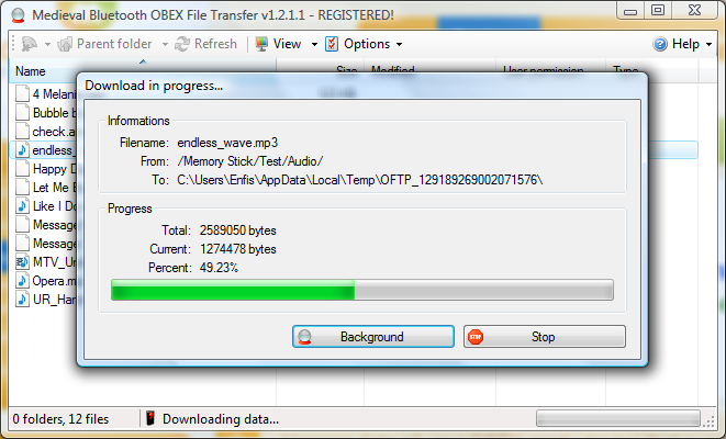 Bluetooth File Transfer Screenshot 3