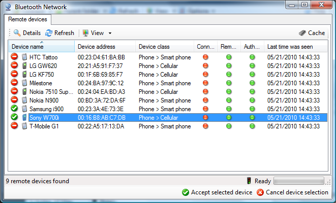 Bluetooth File Transfer Screenshot 4