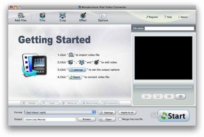 Wondershare iPad Video Converter for Mac Screenshot 3