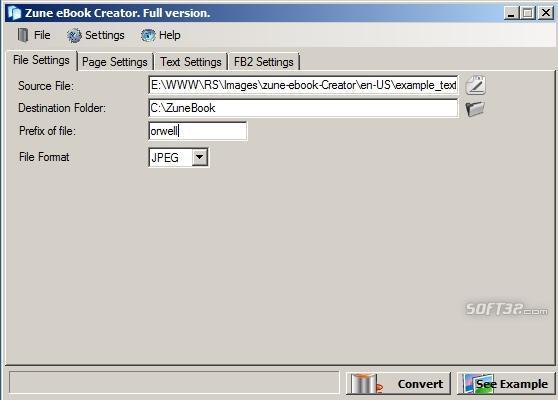 iPod eBook Creator Screenshot 3