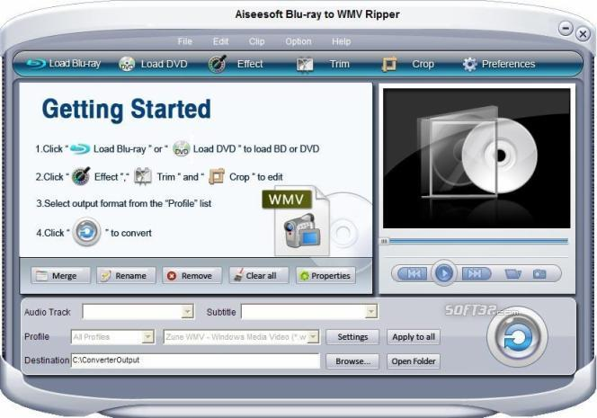 Aiseesoft Blu-ray to WMV Ripper Screenshot 3