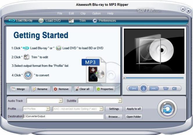 Aiseesoft Blu-ray to MP3 ripper Screenshot 3