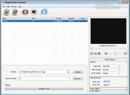 Hongsoft Free Video Converter Screenshot 3