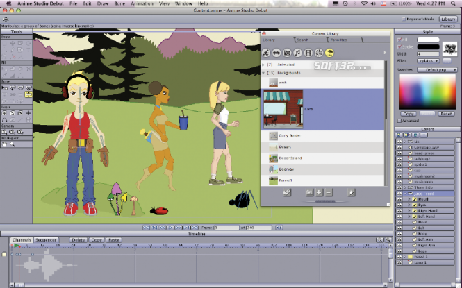 Anime Studio Pro for Mac Screenshot 3