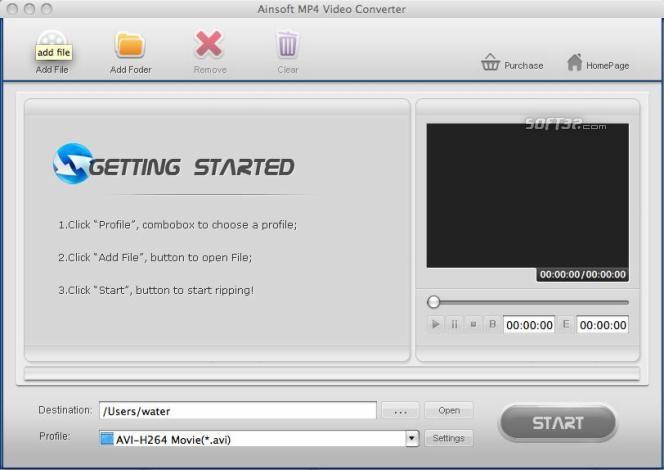 Ainsoft MP4 Video Converter for Mac Screenshot 3