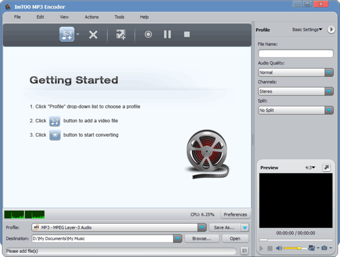 ImTOO MP3 Encoder Screenshot