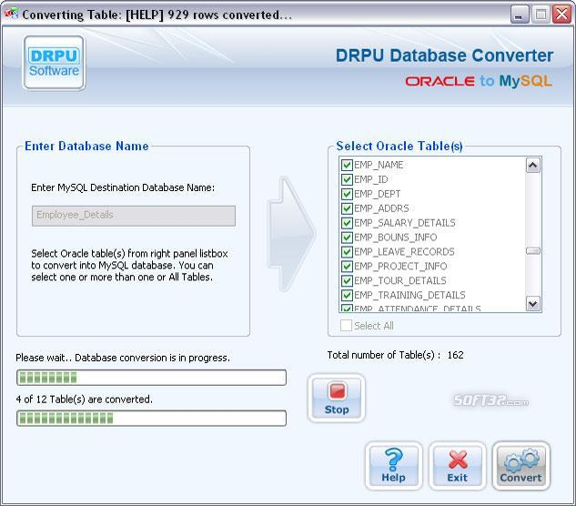 Oracle to MySQL Screenshot 2