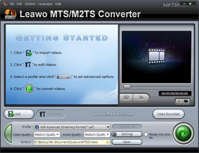 Leawo MTS/M2TS Converter Screenshot 2