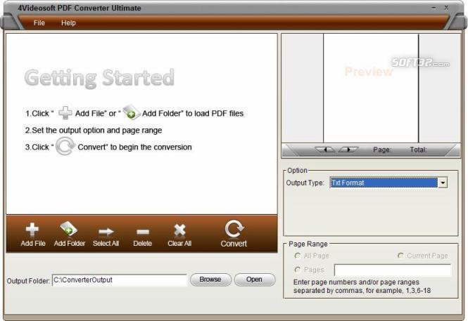 4Videosoft PDF Converter Ultimate Screenshot 2