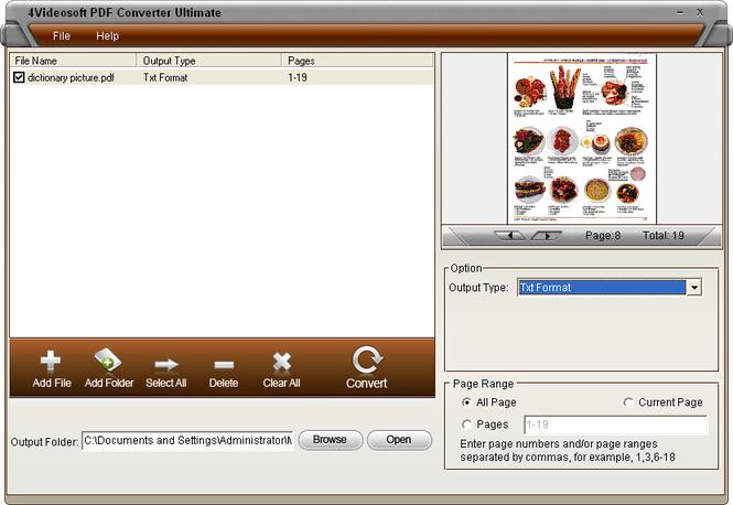 4Videosoft PDF Converter Ultimate Screenshot 3