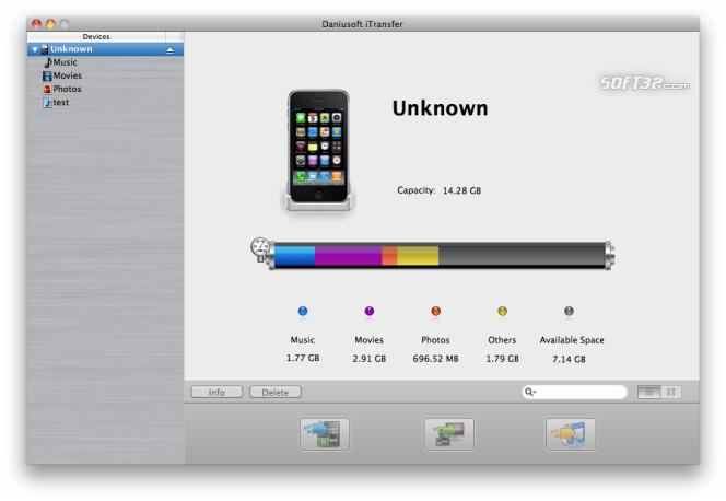 Daniusoft iTransfer for Mac Screenshot 2