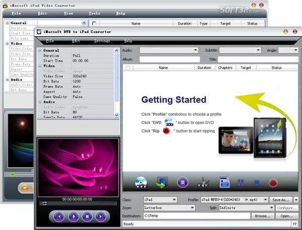 iMacsoft DVD to iPad Suite Screenshot 2