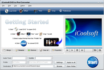 iCoolsoft DVD to iPod Converter Screenshot