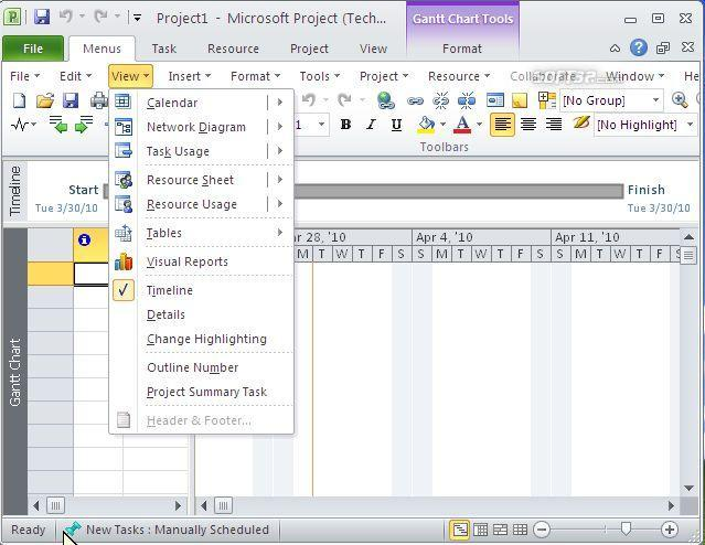 Classic Menu for Project 2010 Screenshot 2