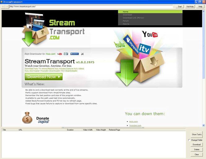 StreamTransport Screenshot 1