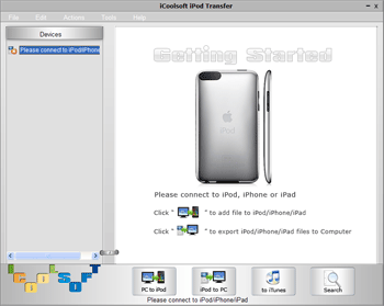 iCoolsoft iPod Transfer Screenshot
