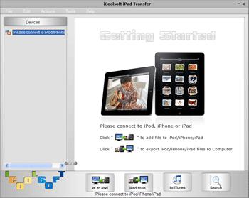 iCoolsoft iPad Transfer Screenshot 1