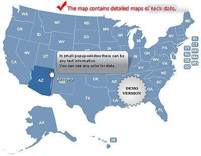 Multi-level Map of USA Screenshot 3