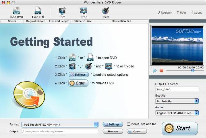 Wondershare DVD Ripper for Mac Screenshot 3