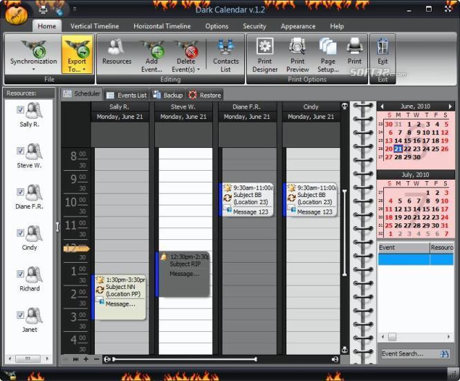 Dark Calendar Screenshot 3
