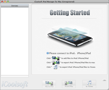 iCoolsoft iPod Manager for Mac Screenshot 1