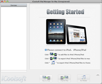 iCoolsoft iPad Manager for Mac Screenshot