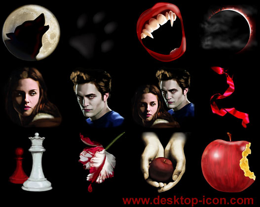 Free Twilight Desktop Icons Screenshot 1
