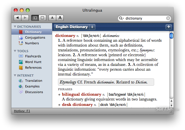 French-Spanish Dictionary by Ultralingua for Mac Screenshot 3
