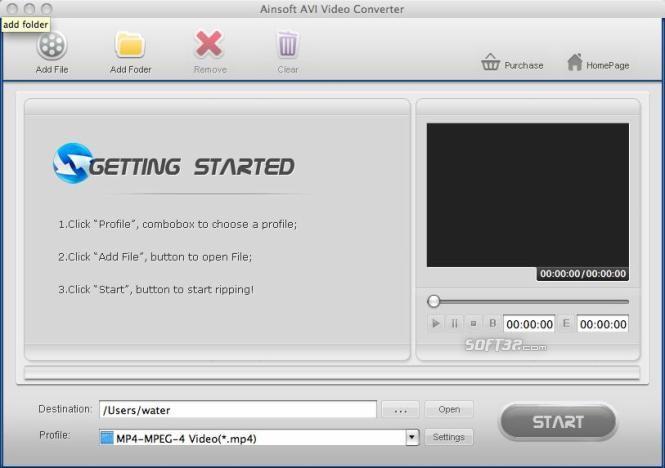 Ainsoft AVI Video Converter for Mac Screenshot 3