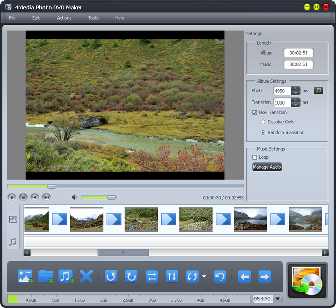 4Media Photo DVD Maker Screenshot 1