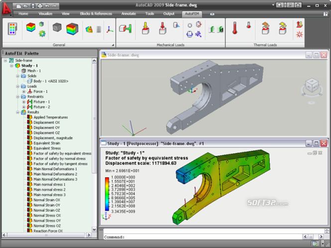 AutoFEM Analysis Screenshot 2