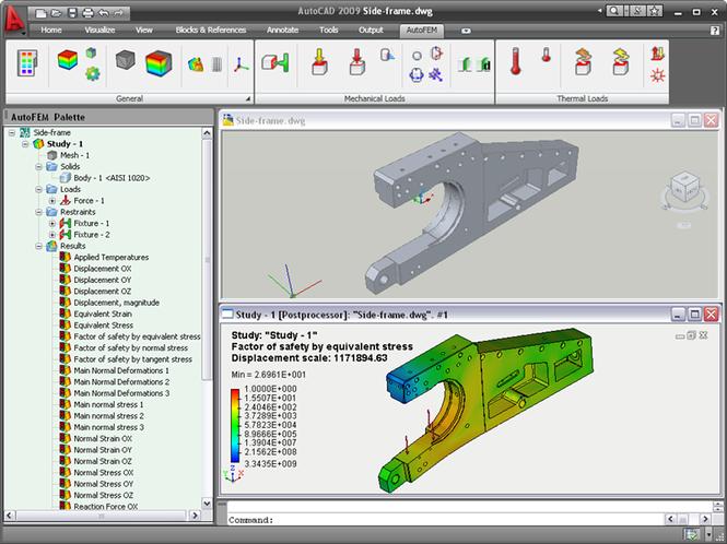 AutoFEM Analysis Screenshot 1