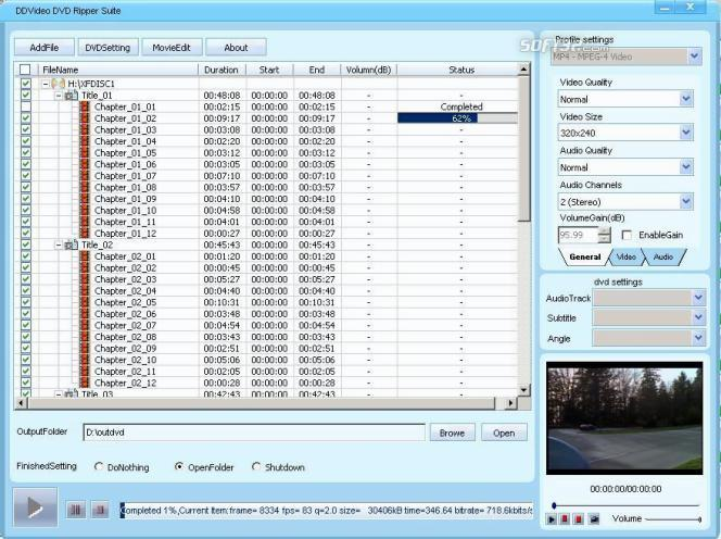 DDVideo DVD Ripper Suite Screenshot 2