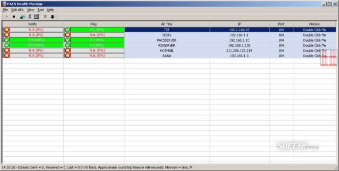 PACS Health Monitor Screenshot 2