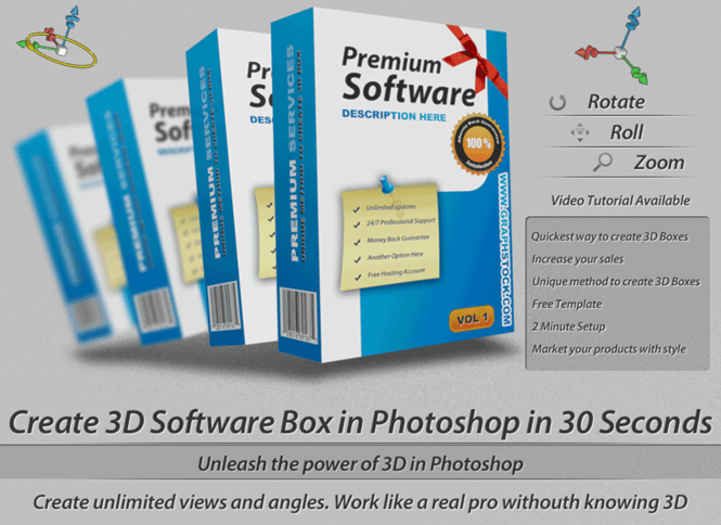 3D Software Boxes Screenshot