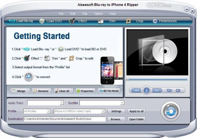 Aiseesoft Blue-ray to iPhone 4 Ripper Screenshot 2