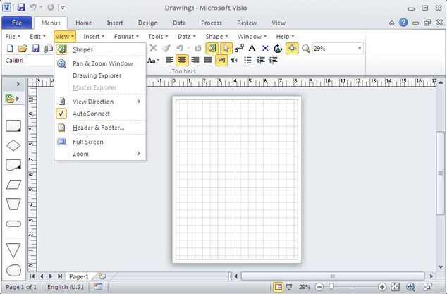 Classic Menu for Visio 2010 Screenshot