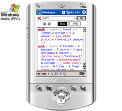 French-Spanish Dictionary by Ultralingua for Windows Mobile Screenshot 1