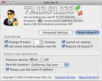 Hide My IP for Mac Screenshot 2