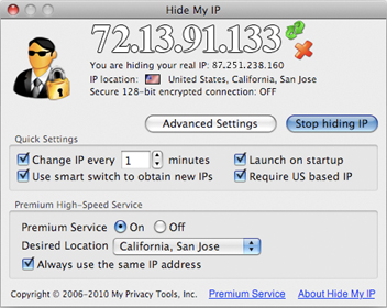 hide ip address mac freeware