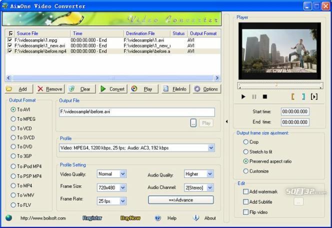 AimOne AVCHD Converter Screenshot 2