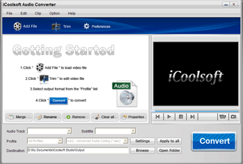 iCoolsoft Audio Converter Screenshot
