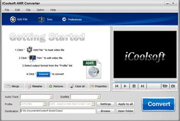 iCoolsoft AMR Converter Screenshot