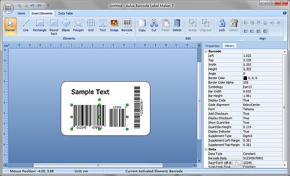 Aulux Barcode Label Maker Screenshot 3