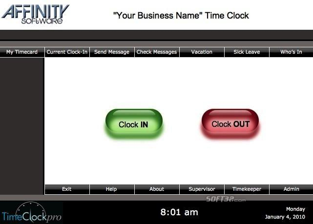 TimeClockpro Network Mac Screenshot