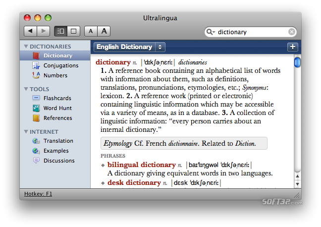 German-English Collins Pro Dictionary for Mac Screenshot 3
