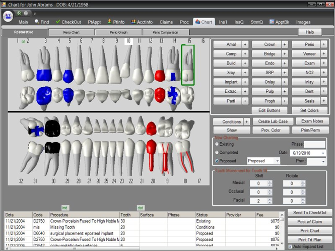 ACE Dental Practice Management Software Screenshot