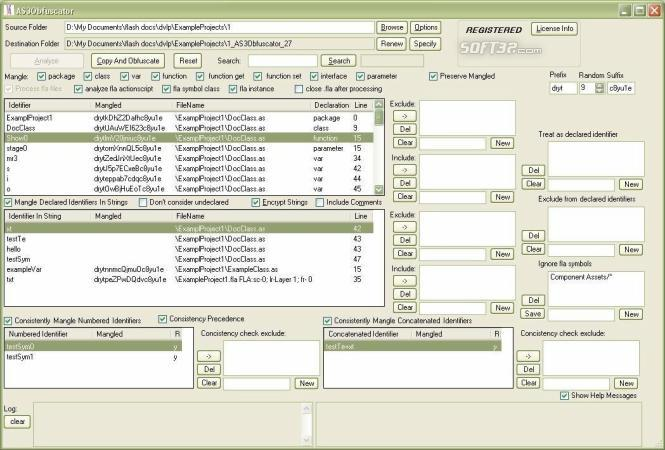 AS3Obfuscator Screenshot