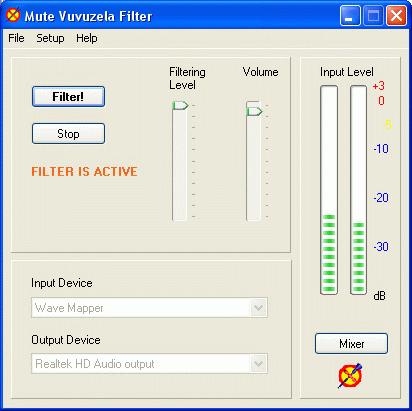 MuteVuvuzela Screenshot