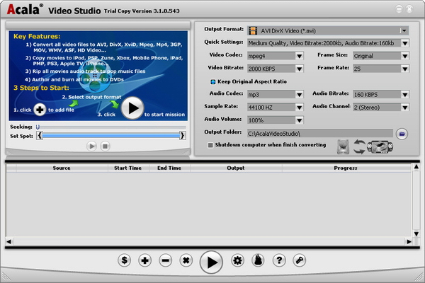 Acala Video Studio Screenshot